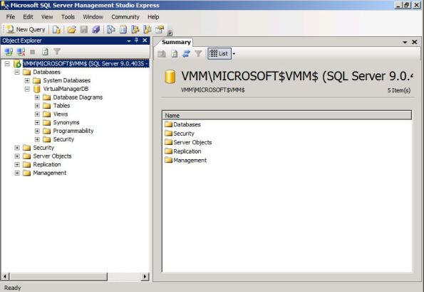 SQL Management Console
