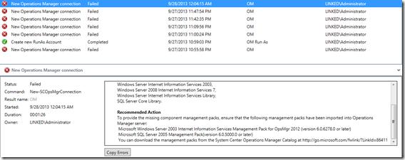 VMM SCOM Integration