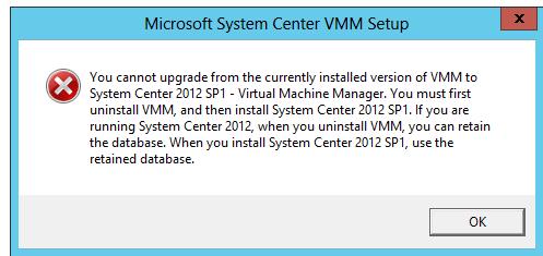 VMM error